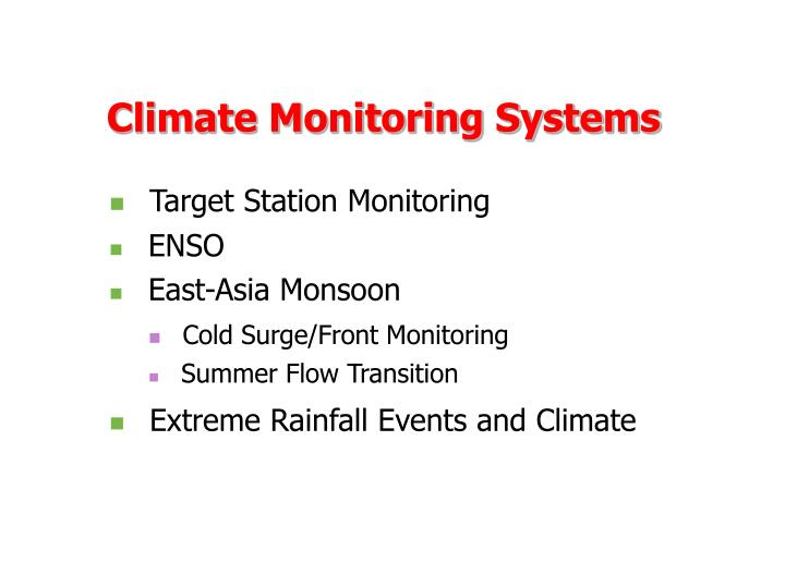 Climate Monitoring Systems