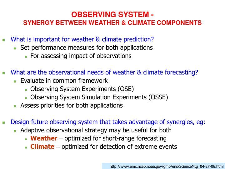 OBSERVING SYSTEM -