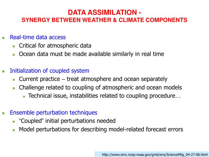 DATA ASSIMILATION -