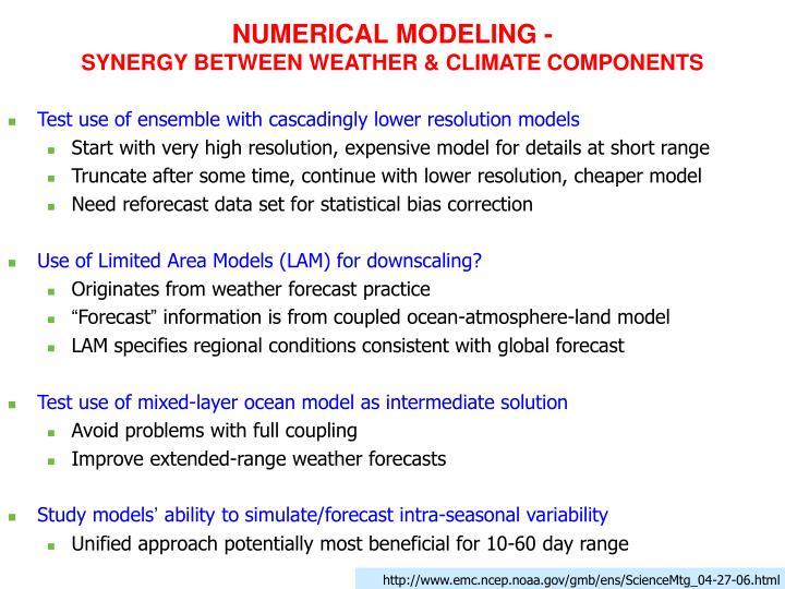 NUMERICAL MODELING -