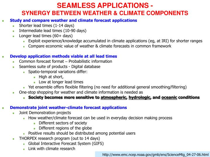SEAMLESS APPLICATIONS -