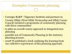 examples community planning