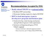 recommendations accepted by esg