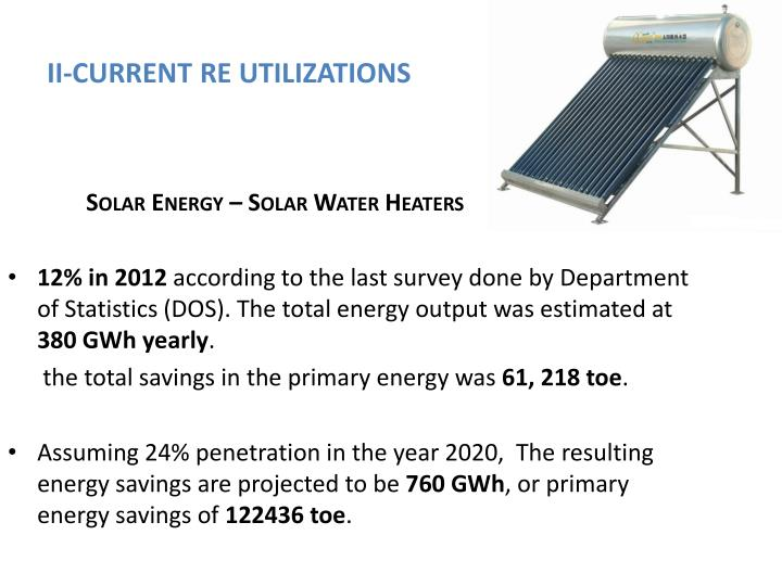 II-CURRENT RE UTILIZATIONS