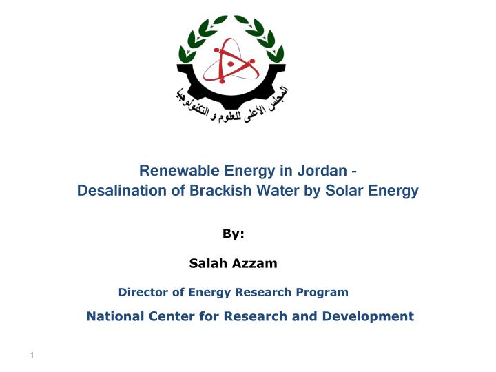 Renewable Energy in Jordan -