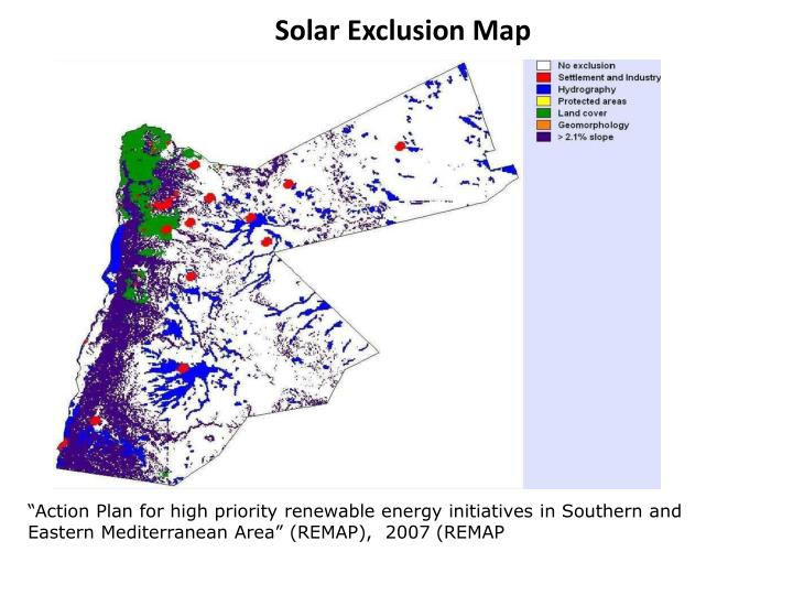 Solar Exclusion Map