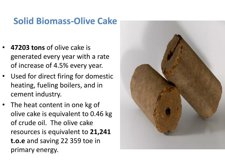 Solid Biomass-Olive Cake