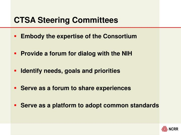CTSA Steering Committees