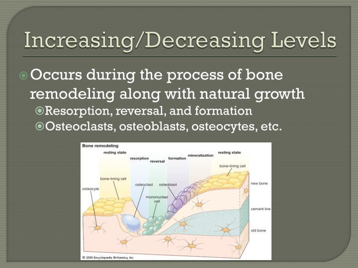 Increasing/Decreasing Levels