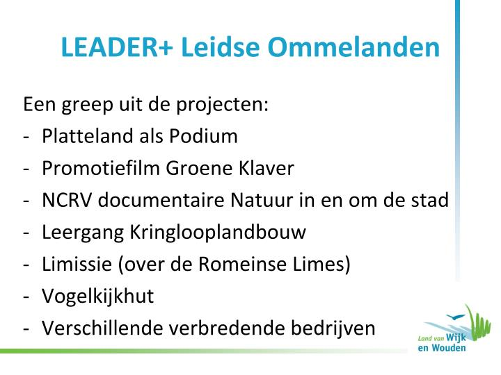 LEADER+ Leidse Ommelanden