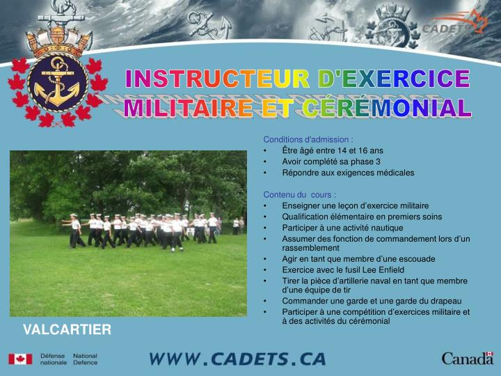 INSTRUCTEUR D'EXERCICE