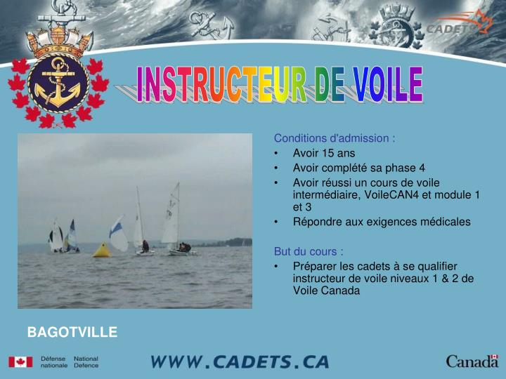 INSTRUCTEUR DE VOILE