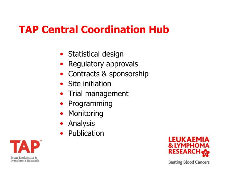 TAP Central Coordination Hub