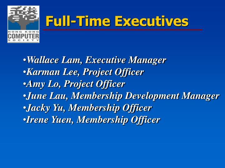 Full-Time Executives