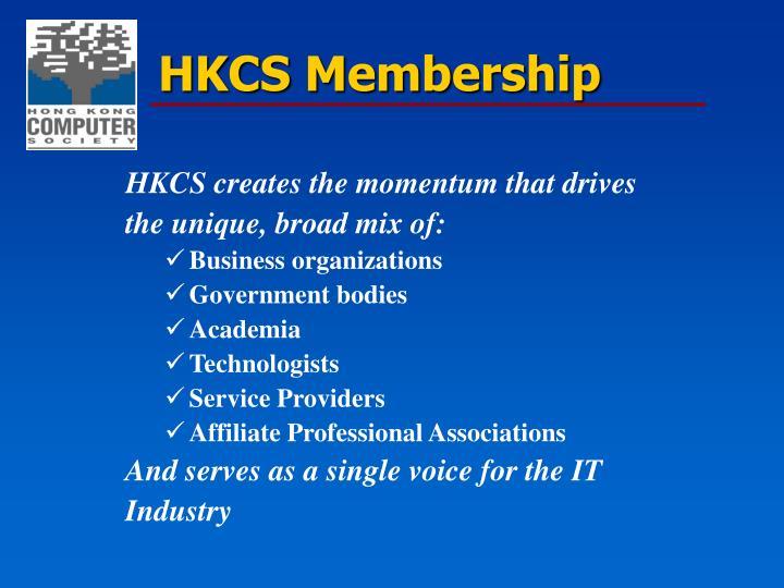 HKCS creates the momentum that drives