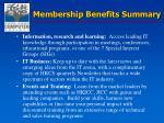 membership benefits summary1
