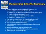 membership benefits summary2
