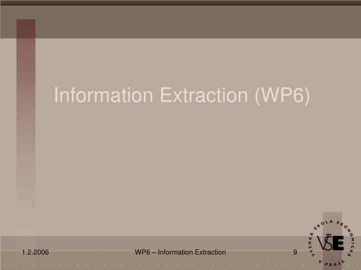 Information Extraction (WP6)