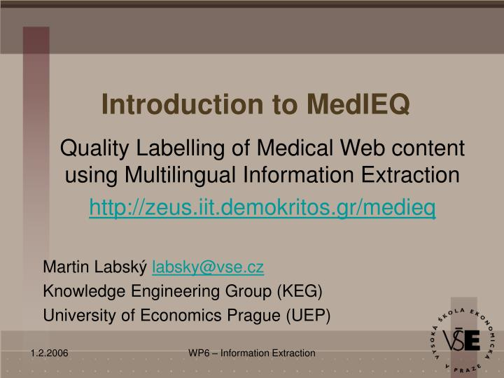 introduction to medieq