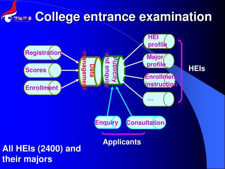 College entrance examination