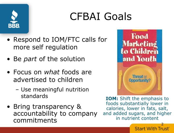 CFBAI Goals