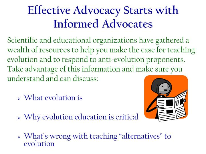 Effective Advocacy Starts with