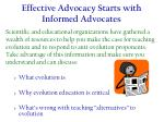 effective advocacy starts with informed advocates