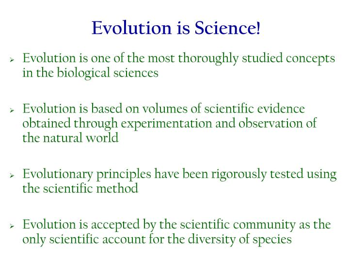 Evolution is Science!