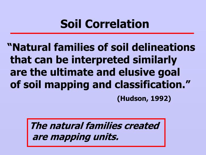 Soil Correlation