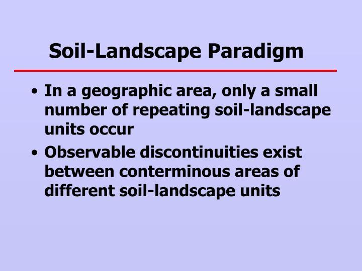 Soil-Landscape Paradigm