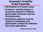 systematic variability of soil properties
