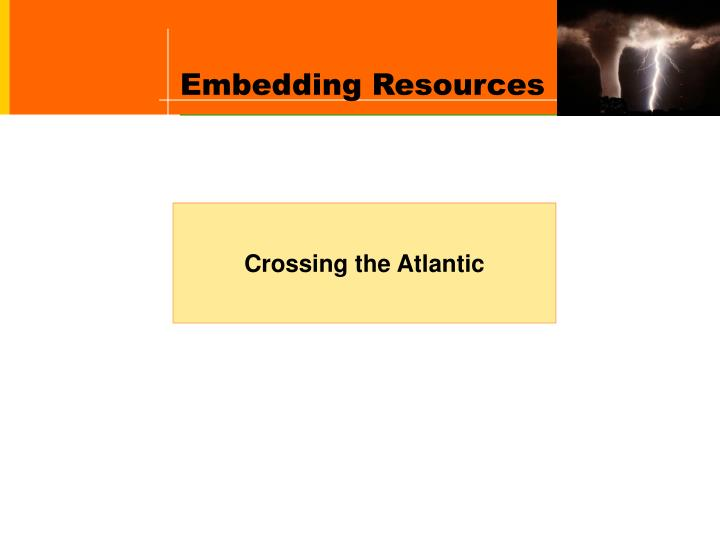 Embedding Resources