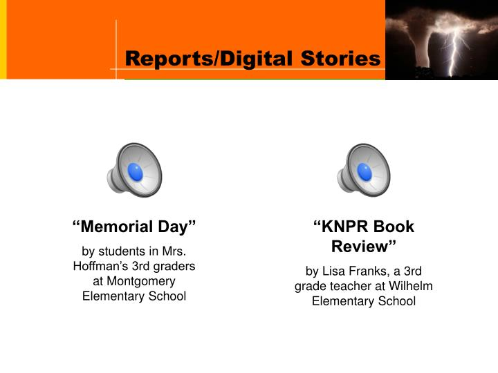 Reports/Digital Stories