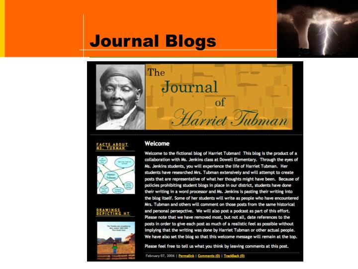 Journal Blogs