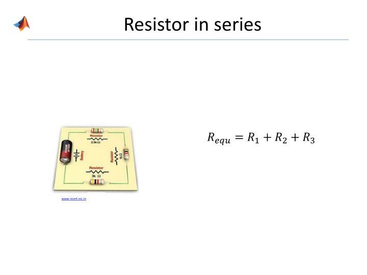 Resistor in series