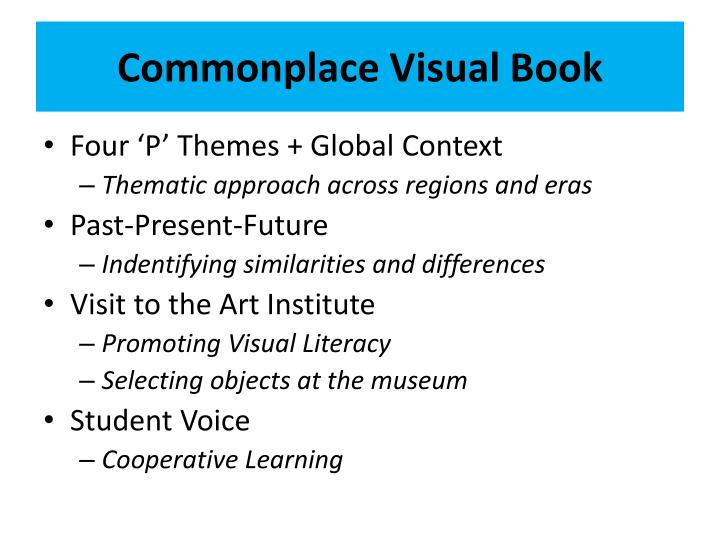 Commonplace Visual Book