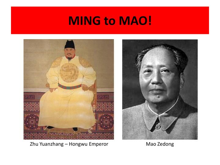 MING to MAO!