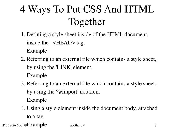 4 Ways To Put CSS And HTML Together