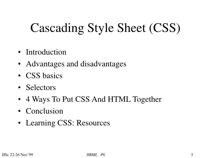 Cascading style sheet css