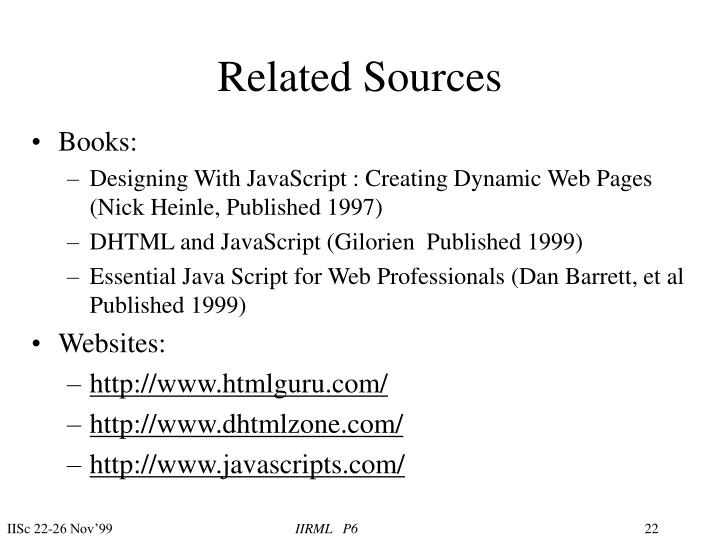Related Sources
