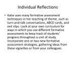 individual reflections