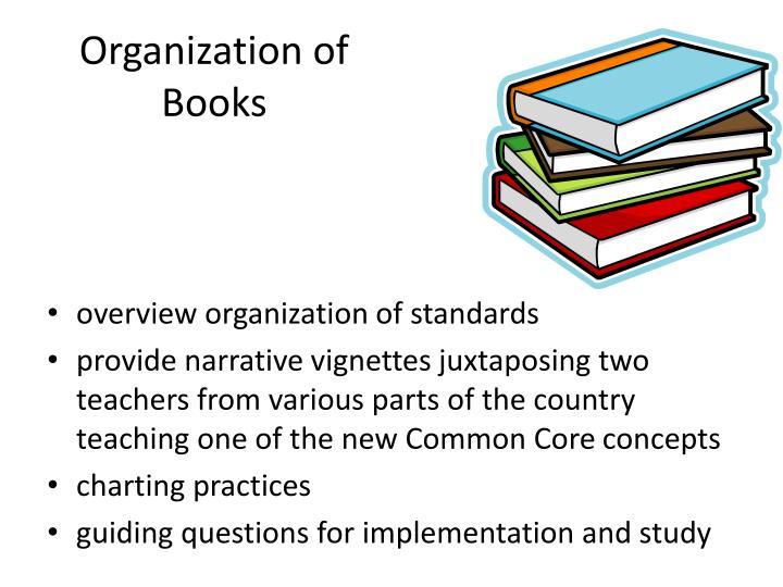 Organization of Books