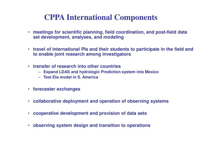CPPA International Components