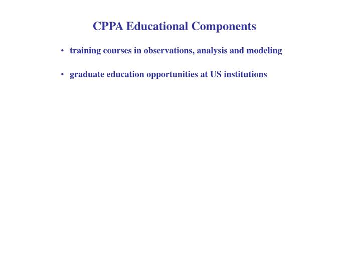 CPPA Educational Components