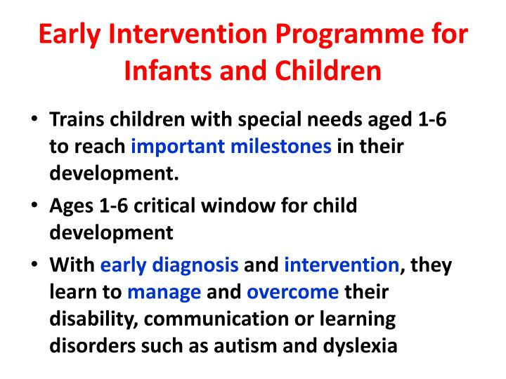 Early Intervention Programme for Infants and Children