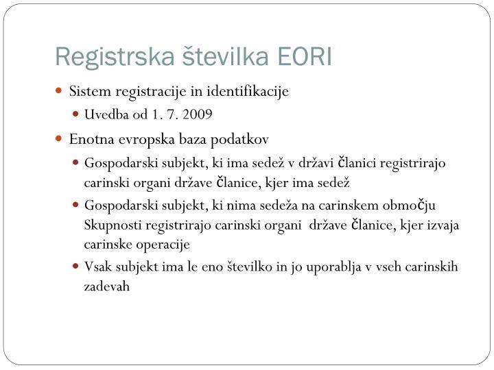 Registrska številka EORI