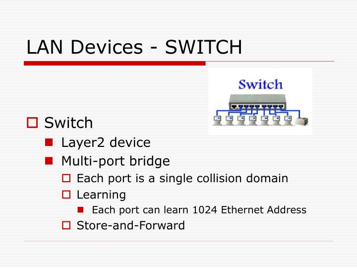 LAN Devices - SWITCH
