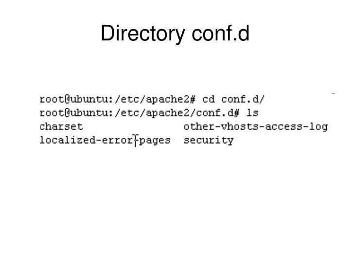Directory conf.d