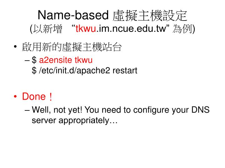 Name-based