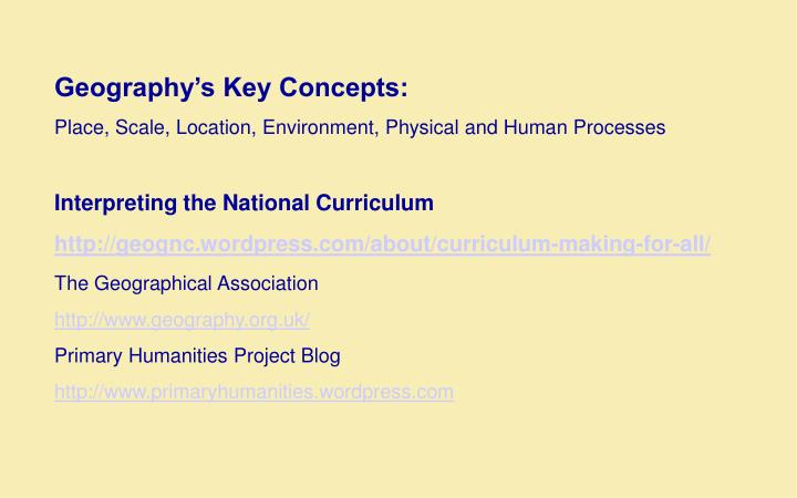 Geography's Key Concepts: